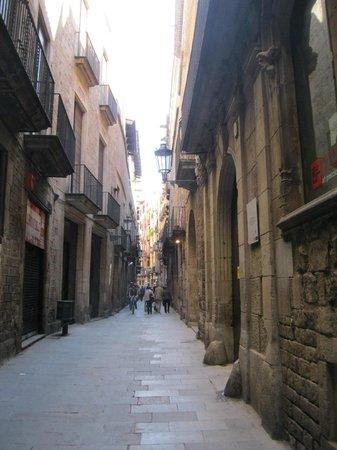 Museu Picasso: Улица Монкада, на которой расположен Музей Пикассо