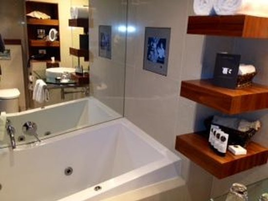 Sofitel Queenstown Hotel & Spa: bath and tv