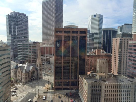 Grand Hyatt Denver Downtown: view from our room on the 19th floor