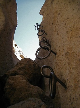 Hole in the Wall: Metal Rings on the Rings Trail.