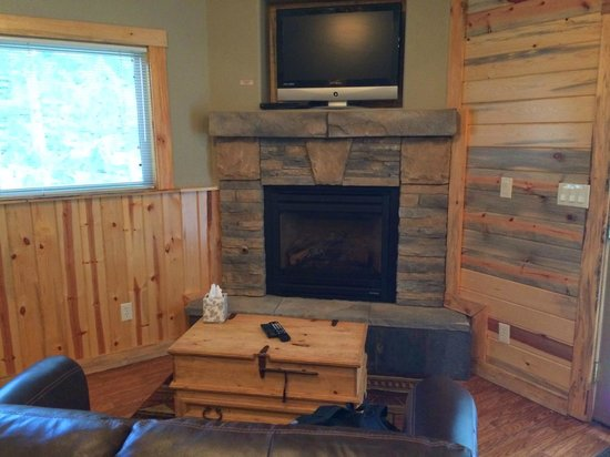 StoneBrook Resort: fireplace in Cottage 7