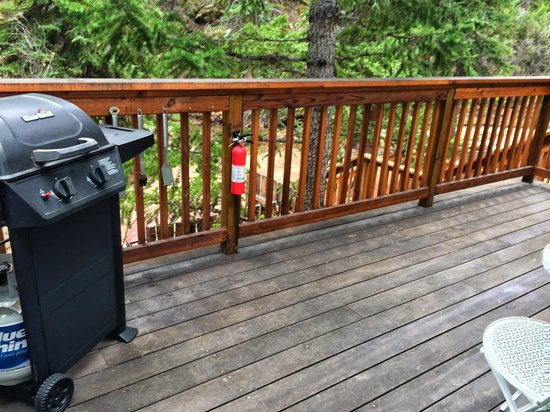 StoneBrook Resort: back deck with grill