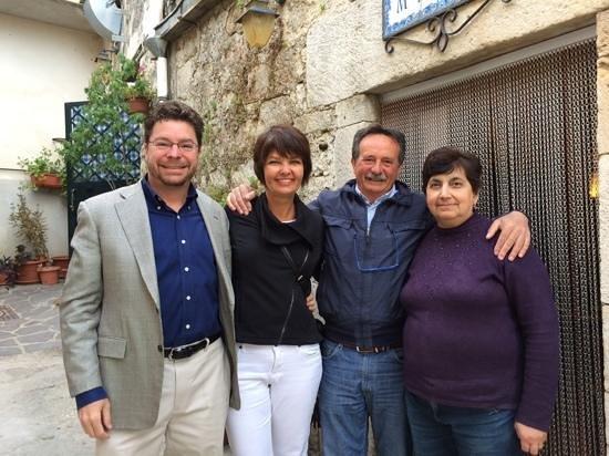 M.A.T.E.S: my wife and I with Felice and Laura our hosts