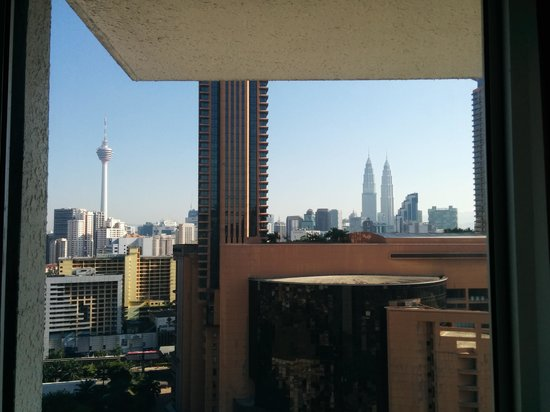 Furama Bukit Bintang: view from bedroom.... photo taken while sleeping on the bed