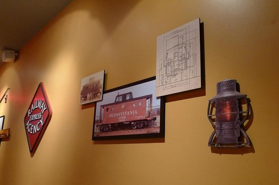 Isaac's Deli & Restaurant Incorporated: Train memorabilia everywhere.