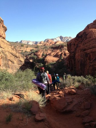 Red Mountain Resort : A view on the meditation hike in Snow Canyon