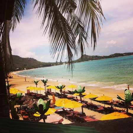 Lamai Beach : View from hotel