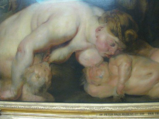 """Alte Pinakothek : detalhe de """"Sileno Bêbado"""""""