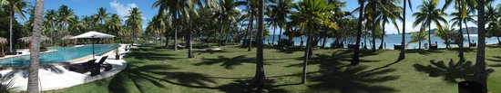 Lomani Island Resort: View from restaurant