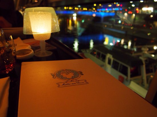 Motto am Fluss: Great view from my table:)