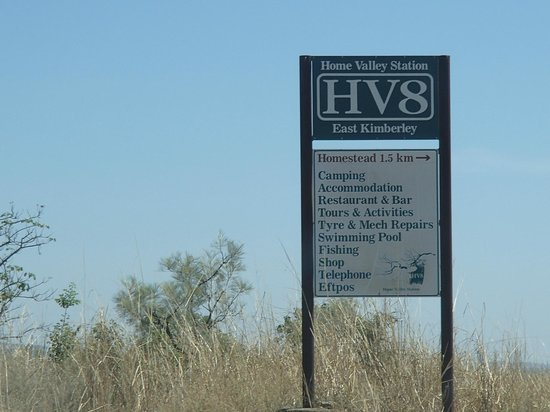 Home Valley Station: Entrance sign on the Gibb