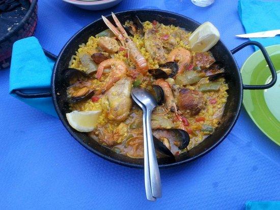 Casa Dorotea: Paella gemischt.
