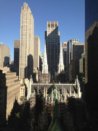 Lotte New York Palace: View of St. Patrick's Cathedral from our room.