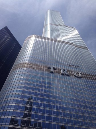 Chicago's First Lady Cruises: Trump Tower - in the process of adding his name.