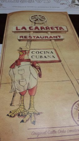 La Caretta : The menu
