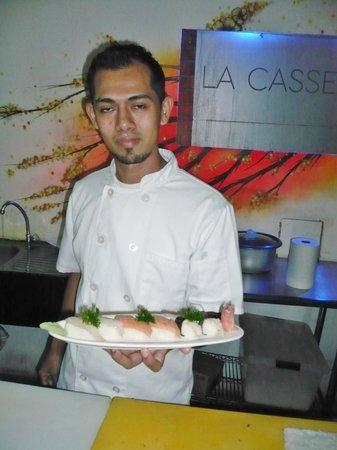 La Casserole : Willmer Alejandro made our sushi