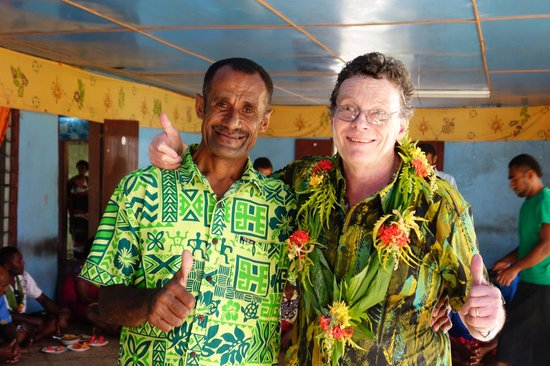 Sigatoka River Safari: Village spokesman with Chief John