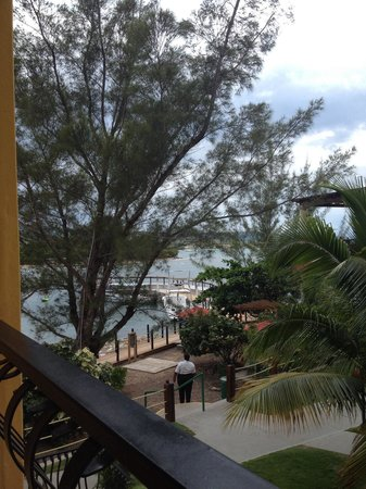 Jewel Paradise Cove Resort & Spa Runaway Bay, Curio Collection by Hilton : Partial ocean view from balcony of room 922.