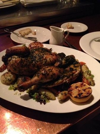 Little Bird Bistro: whole chicken for two...with root veg.