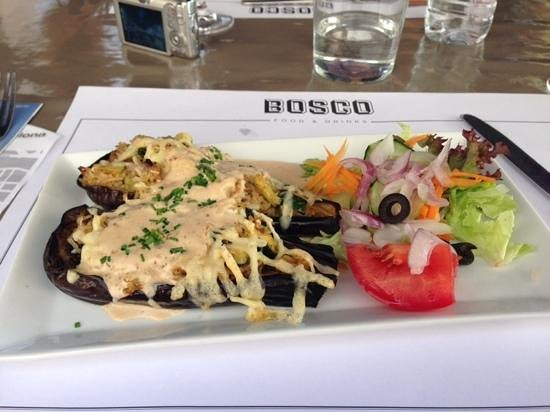 Bosco Food & Drinks: stuffed peppers on their fixed lunch menu option, yum!