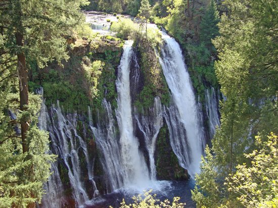 McArthur-Burney Falls Memorial State Park: Burney Falls as seen from the first viewpoint.