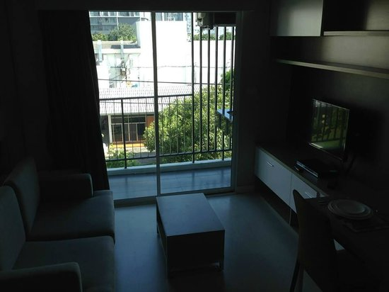 At Mind Executive Suites: lounge and balcony