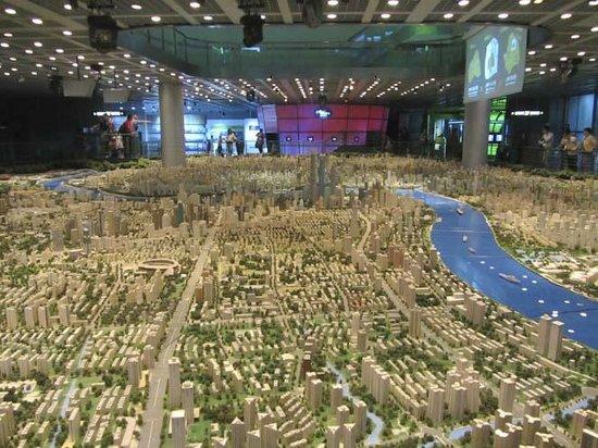 Shanghai Urban Planning Exhibition Hall: Scale model of Shanghai