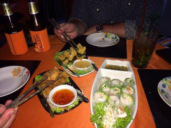 The Gallery Restaurant : Tasty local thai starters