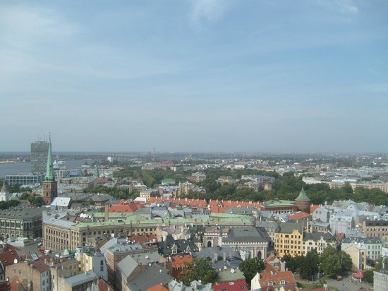 View of Riga from St Peter's Church Tower: View