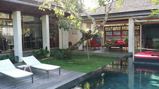 Chapung SeBali Resort and Spa: View of pte pool villa