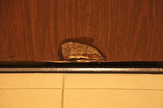 Buffalo Marriott Niagara: Damaged Door