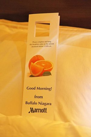 Buffalo Marriott Niagara: Breakfast Menu