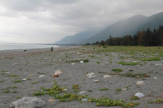 Taroko Aluwa homestay : Qixingtan beach near the hostel