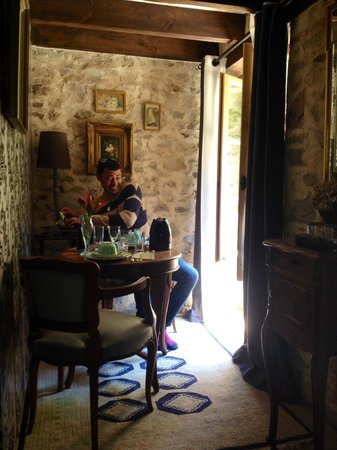 Moulin du David: coin thé/café