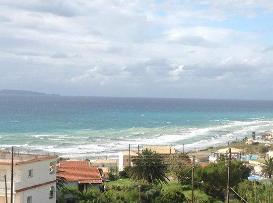 Ouranos Club: Blick auf die Bucht vom Appartement Heuss