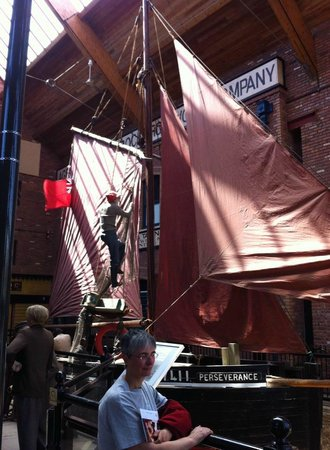 Grimsby Fishing Heritage Centre: The last sailing vessel to work out of Grimsby