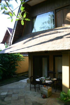 The Sungu Resort & Spa: private garden area, ideal for that morning coffee or evening drink