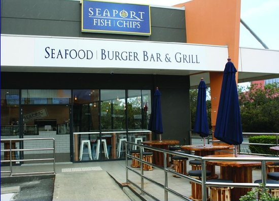 Seaport Fish Chips: Outside Seating