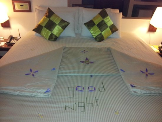 Thaproban Pavilion Resort and Spa : housekeeping's fancy work!