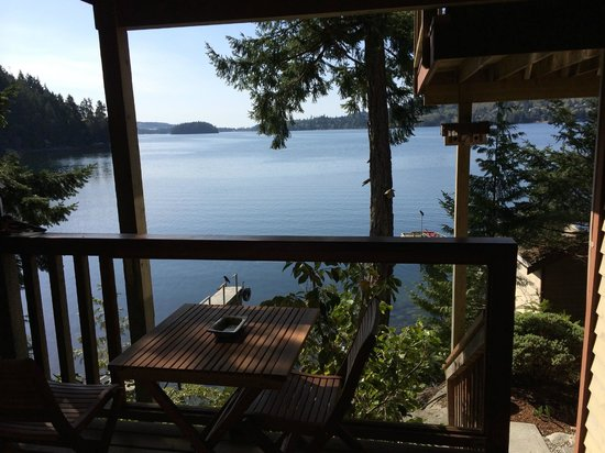 Coracle Cove Waterfront Suite : View from the private patio