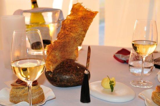 Michel Bras : Croute et couteau à beurre Laguiole