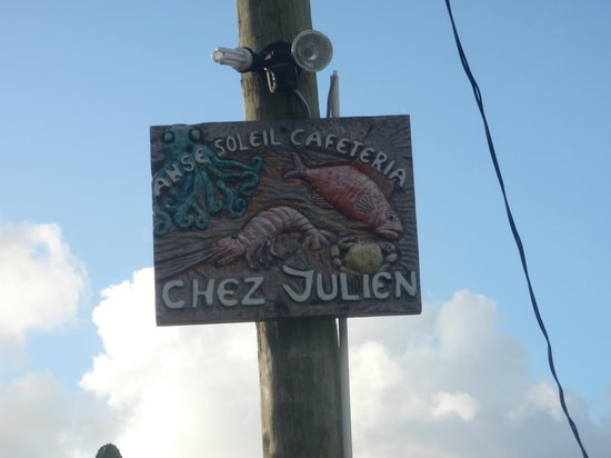 Anse Soleil Restaurant: cafeteria sign