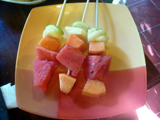 Geria Giri Shanti Bungalows : Breakfast Fruit Salad