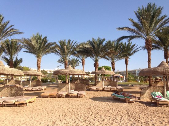 SENTIDO Palm Royale: Beautiful beach. Soft sand and plenty of loungers.
