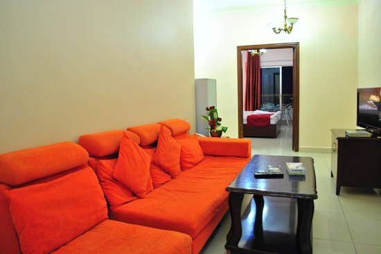 Al Qidra Hotel : Living room (Suite)