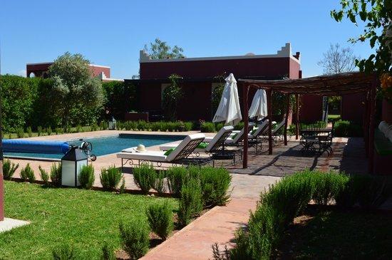 Domaine Du Douar : piscine privative de la suite Marrakech