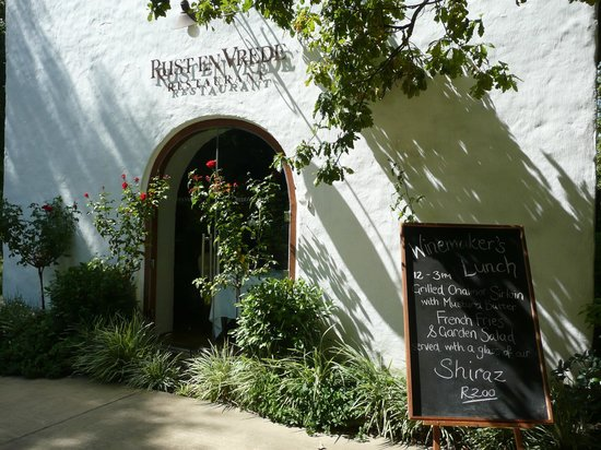 Rust en Vrede Restaurant: Saturday Lunch at Rust en Vrede
