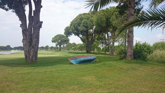 Gloria Verde Resort: Баркас в полях Белека