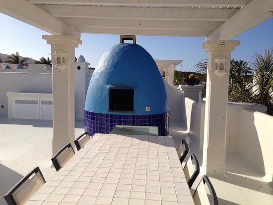 Bahiazul Villas & Club: Terrazzo con barbecue