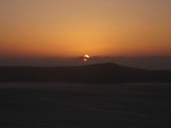 Fanari Restaurant: coucher de soleil vu du restaurant